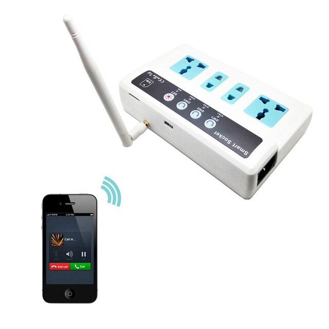 gsm carte sim t l phone appel sms t l commande universelle sans fil smart extension prise de. Black Bedroom Furniture Sets. Home Design Ideas