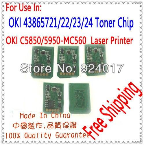 Kompatibel Oki C5850 C5950 MC560 Toner Chip, Refill Toner Chip Für Oki...