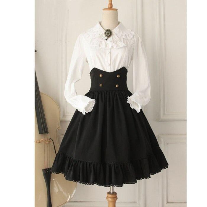 Gothic High Waist Women s Skirt Retro Style Short Skirt Plus Size Midi Skirt Custom Tailored