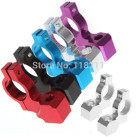 RPMMOTOR Universal 9mm Stud Motorcycle Rearview Mirror Mount Seat Aluminum Alloy Clamp