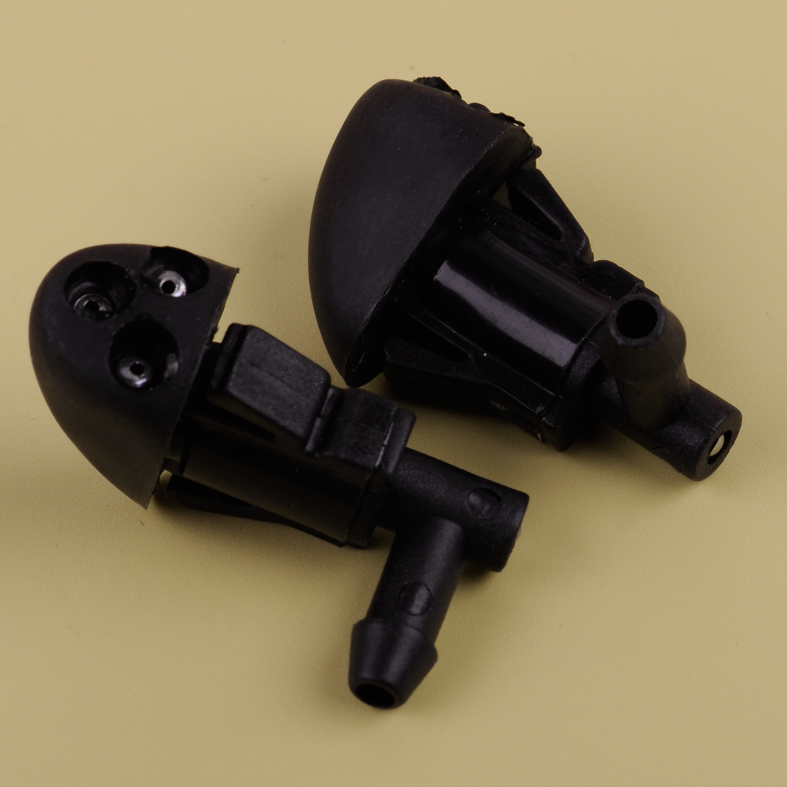 CITALL New 2pcs Black Car Windshield Washer Wiper Spray Water Nozzle Fit For Chevrolet Cruze