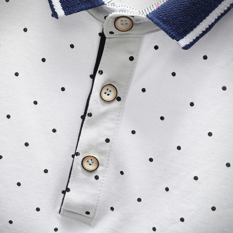 2018 New Brand Polos Mens Printed POLO Shirts Cotton Short Sleeve Camisas Polo Casual Stand Collar Male Polo Shirt 5