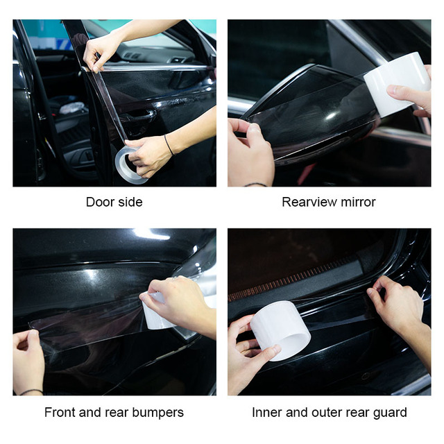 Car Stickers Car Door Sill Sticker Protector Multifunction Nano Tape Auto Bumper Strip Car Door Protect Scratchproof Accessories