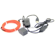 3 meter (3.2mm) el wire+ 5V USB Inverter with USB Switch+ Mix Order Available