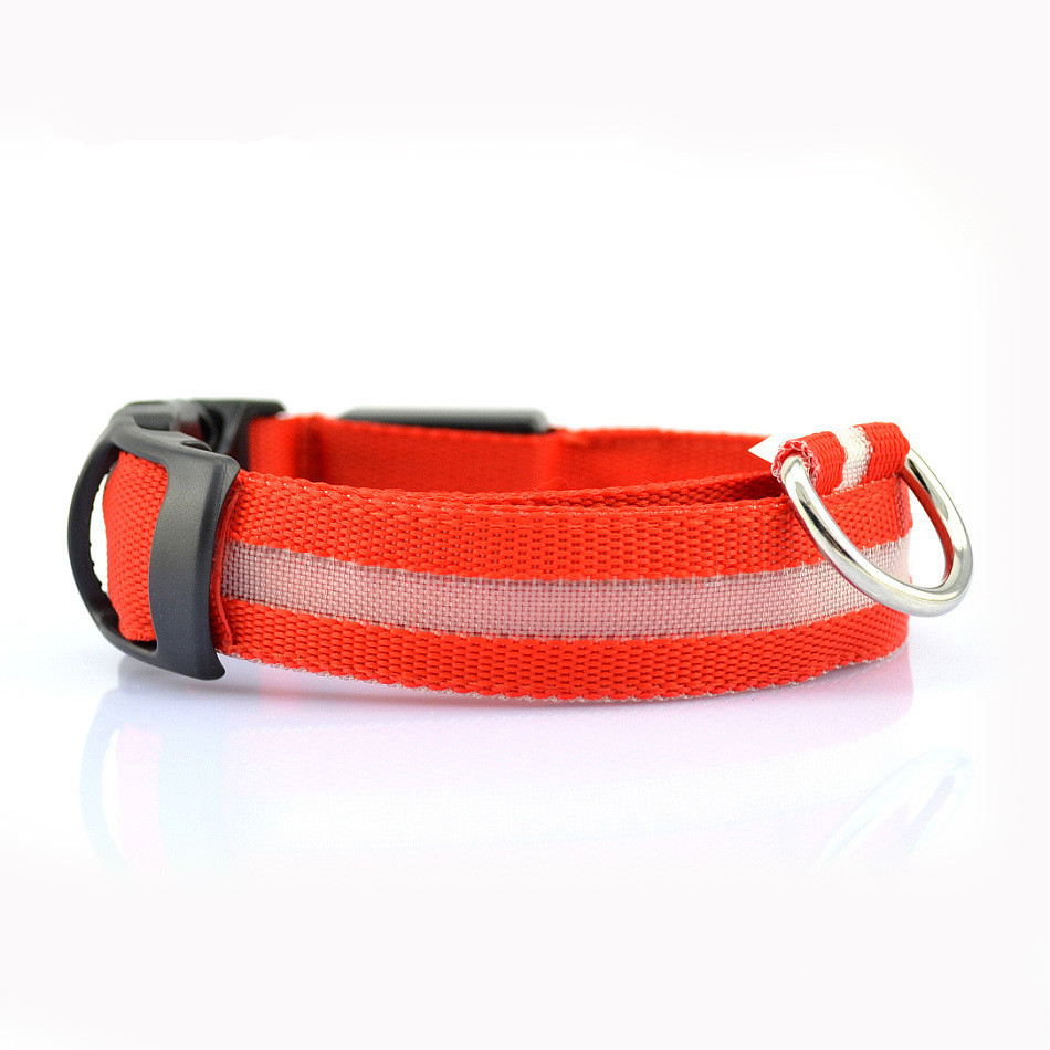 Nylon Pet Dog Collar Led Light Night Safety Glowing Pet Supplies Cat Led Dog Collar Pet Accessories For Small Dogs Led Collars #3