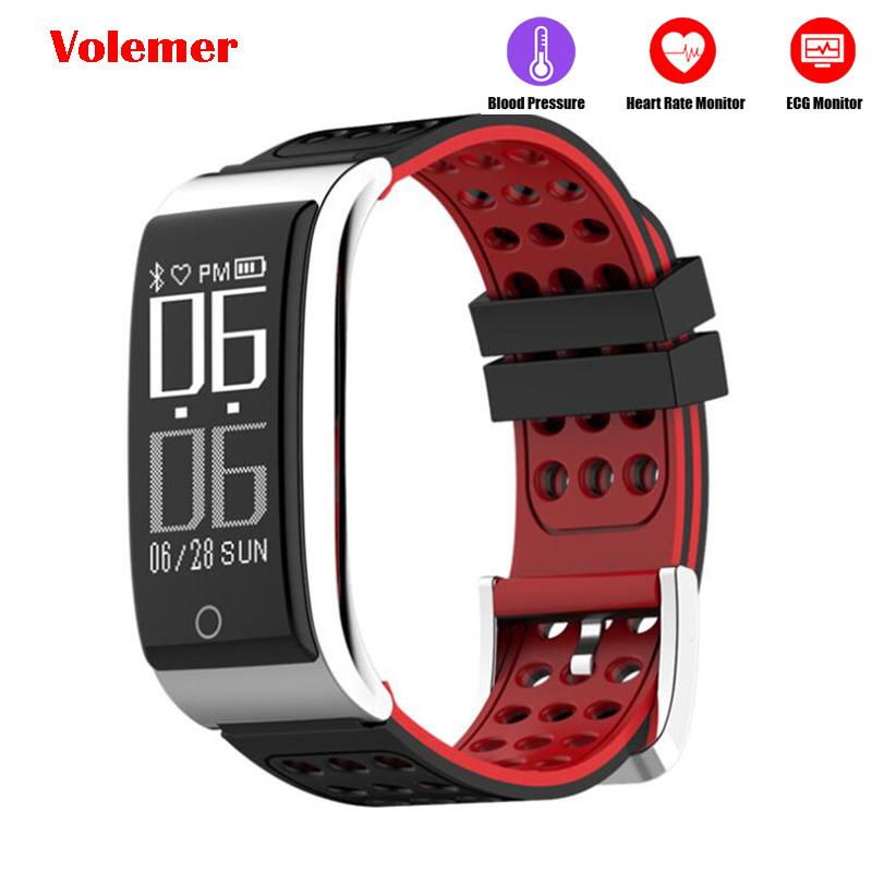 Smart Bracelet Fitness Bracelet Heart Rate Monitor Blood Pressure Watch ECG PPG Smart Wristband ECG Watch
