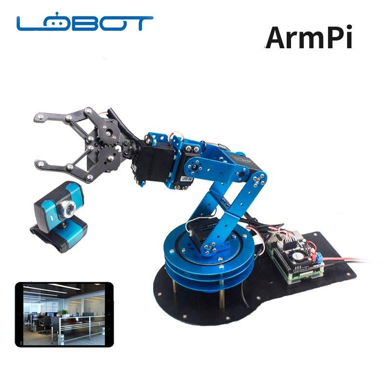 Industriel 6DOF Robot Servo bras Pi sans fil WIFI vidéo mécanique main griffe télécommande RC pièces Robot