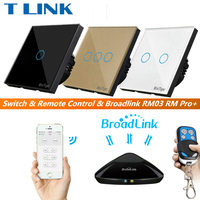 TLINK Broadlink EU Standard Touch Switch 1 2 3 Gang 1 Way Wall Light Touch Screen