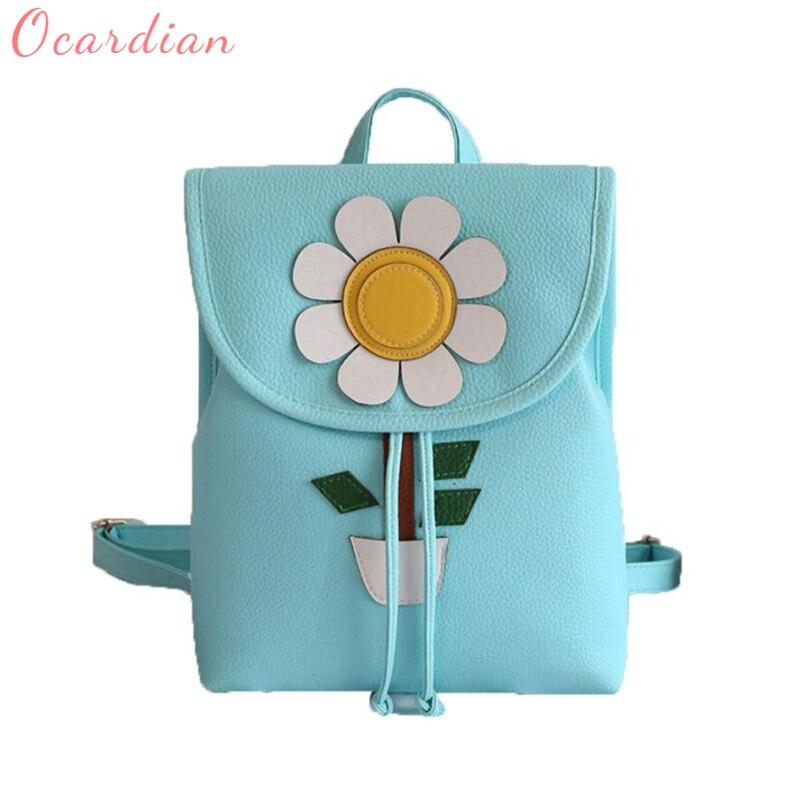 2018 Ocardian new Women Flowers Fresh Simple Mini Backpack Women Back Pack Backpacks Girls hot breathable Backpacks C0411
