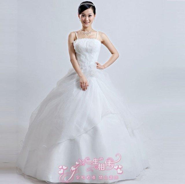 Newest Style Simple Beautiful Wonderful Wedding Dress 6106 Lace Up