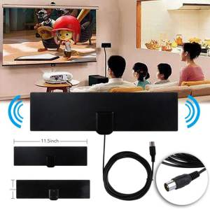 Tv-Antenna Antanna Multi-Direction 1080P Aerial HDTV Rectangle-Shape Black Digital Flat