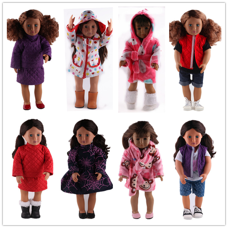 8 Style Doll Clothes For 18 Inch American Girl Dol Baby Birthday Christmas Gift In Dolls