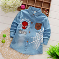 2017 New Spring Autumn Long Sleeve Boys Blouses Breathable denim Kids Children Shirts Kids Shirts Boys Shirts