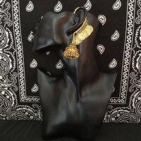 Exquisite Indien Antike Goldene Große Vogelkäfig Ohrringe Indien Classic Tribal Schmuck Nahen Osten Ägypten Indien und Pakistan Thailand