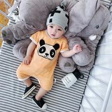 Celveroso 2018 kartun panda bayi Romper unisex cotton Lengan pendek pakaian bayi baru lahir jumpsuit Pakaian bayi set roupas
