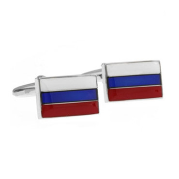 Russia Russian Federation Flag Cufflink Cuff Link 4 Pairs Wholesale Free Shipping