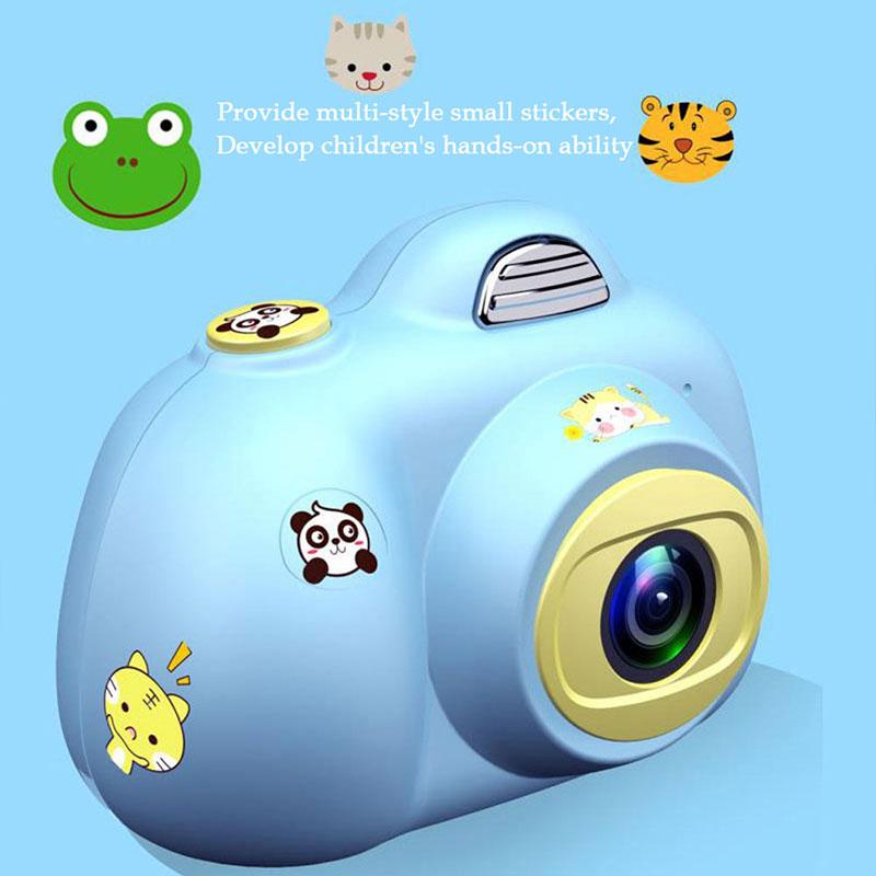 Enfants jouets caméra enfants caméras compactes enfants Selfie Mini dessin animé photographie Image Portable Support TF carte 1080 p Photo - 6