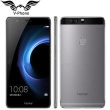 Ursprünglicher Huawei Honor V8 4G LTE Handy 4 GB RAM 64G ROM 5,7 zoll Android 6.0 Kirin 950 Octa-core Dual Hinten 12.0MP 3 kamera