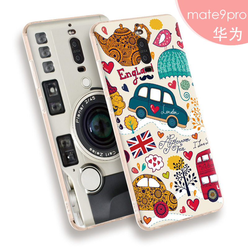 Buy For Huawei Mate 9 pro Case,3D Stereo Relief Painting Back Cover case For Huawei Mate9 pro Slim Silicon TPU Phone Protector shell for only 3.88 USD