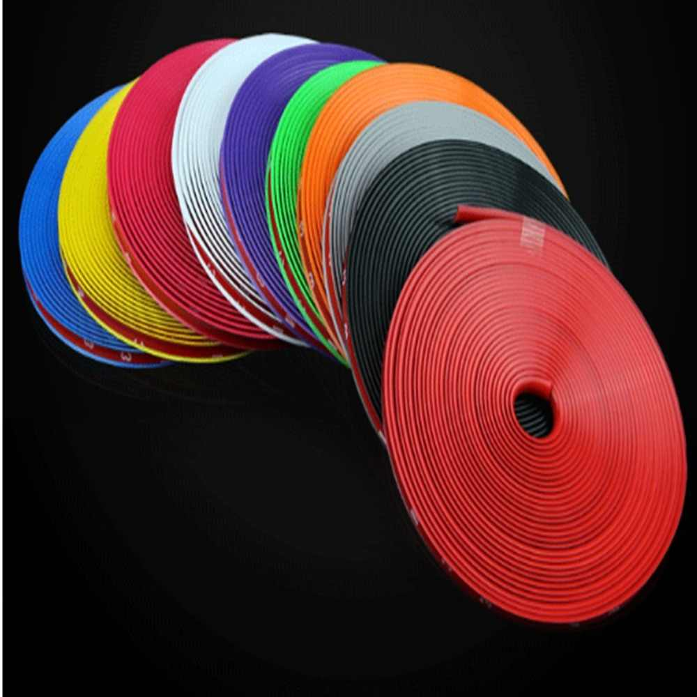 8M Solid Wheel Well Fender Decorative Edge Tape Molding Trim Strip Protector