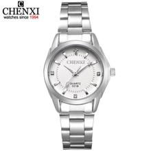CHENXI xfcs יוקרה מותג אופנה שעונים נשים גבירותיי ריינסטון קוורץ לצפות נשים בנות שעון שעוני יד relojes mujeres
