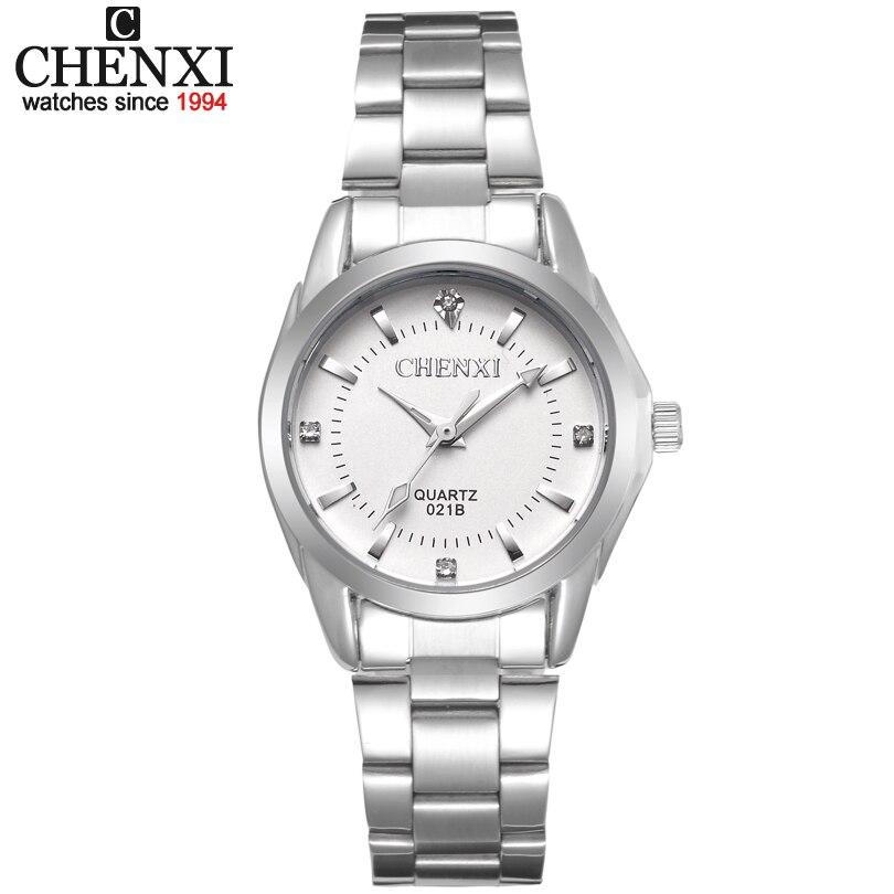 CHENXI marca de moda de lujo relojes xfcs reloj del cuarzo del Rhinestone de las señoras vestido de las mujeres reloj de pulsera relojes mujeres