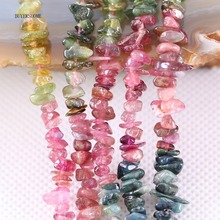 """5-8MM Irregular Shape Freeform Chip Natural Stone Loose Beads Tourmaline For Jewelry Making DIY Necklace String 15.5"""" S004"""