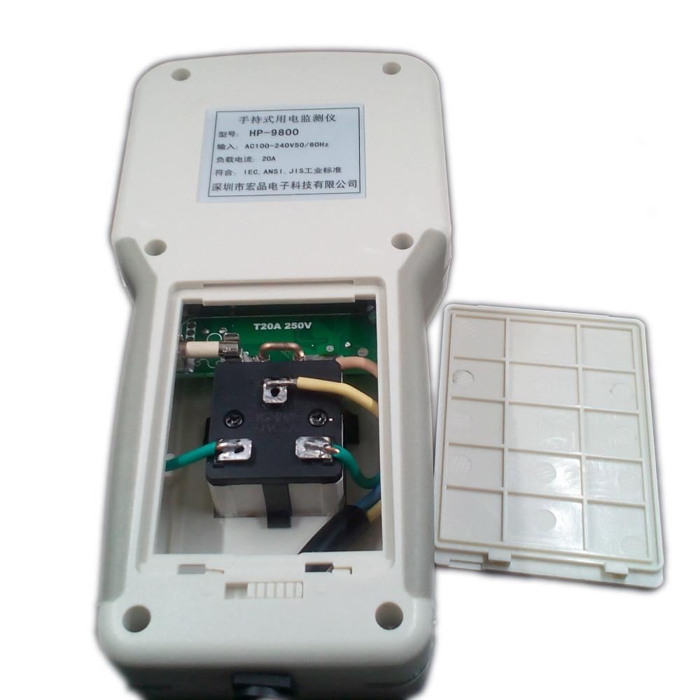 Digital Electric Power Energy Meter Tester Monitor Watt Meter Analyzer energy saving lamps tester HP9800 0-9999KW EU plug 5
