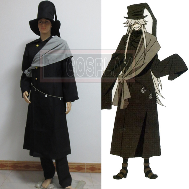 Black Butler Undertaker Cosplay Costume Packing Included IncludedOvercoat Jacket Hat