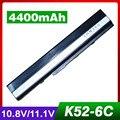 4400 mah batería del ordenador portátil para asus x52f x52j x52jb x52jc x52je x52jg x52jk x52jr x52jt x52ju x52jv x52n x52sg