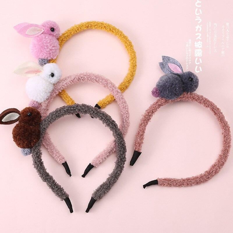 Nova segurança Bonito crianças hoop cabelo da orelha de Coelho headband hairband para crianças Meninas Acessórios Para o Cabelo Elástico Headwear Turbante Cocar