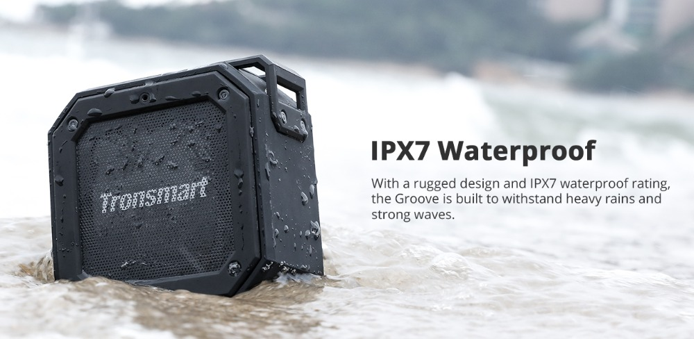 Tronsmart Groove (Force Mini) Bluetooth Speaker IPX7 Waterproof Column Portable Speaker for the computer with 24H Playtime_02