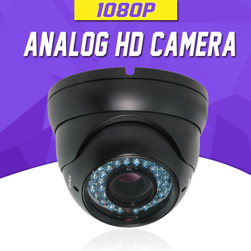Security CCTV Camera HD TVI 1080P OSD Menu Real Time 2.8-12mm Lens 4 In 1 HD AHD/CVI/TVI/CVBS Camera Dome FULL HD Camera AHD