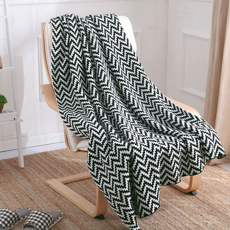 new 2016 black white throw blanket super soft knitted. Black Bedroom Furniture Sets. Home Design Ideas