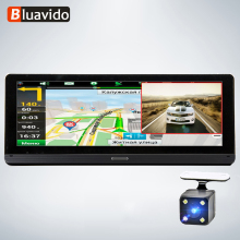 Bluavido 8 4G Android GPS Navigation ADAS Full HD 1080P Car DVR Camera WiFi remote Monitor BT 4.0 auto Video Recorder Dash cam e ace 4g car dvr camera adas android autoregister with gps navigation full hd 1080p video recorder two cameras vehicele blackbox