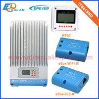 Wifi ve BLE KUTUSU adaptörü IT6415ND MPPT güneş panelleri şarj regülatörü 60A 12 V/24 V/36 V/48 V Otomatik Çalışması ile MT50 Metre