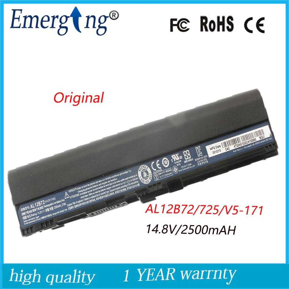 4Cell 14.8v 2500mah Original Quality New Laptop Battery for acer AL12B72 Aspire 725 726 V5-171 V5-121 V5-131 14 touch glass screen digitizer lcd panel display assembly panel for acer aspire v5 471 v5 471p v5 471pg v5 431p v5 431pg