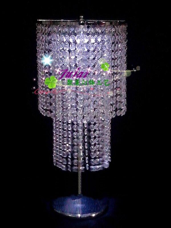 60 cm de hauteur mariage fleur stand mariage cristal route plomb accessoires de mariage piédestal colonne de mariage