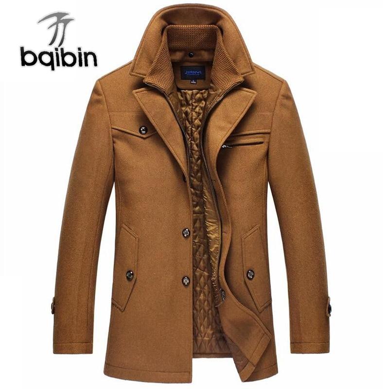 Erkek Kıyafeti'ten Yün ve Karışımları'de 2018 Trençkot Erkekler Kış Kalın Rüzgarlık Uzun Yün Palto Masculino Palto Casaco Ceket Erkek 4XL Siper Yün Ceketler'da  Grup 1