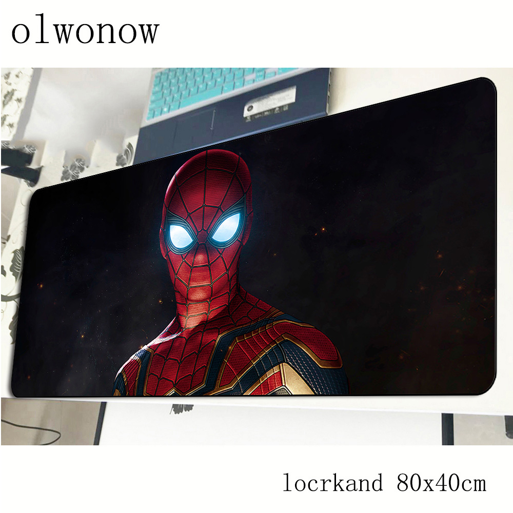 Spiderman Mousepad 800x400x3mm Locrkand Gaming Mouse Pad Gamer Mat Hot Sales Game Computer Desk Padmouse Keyboard Play Mats