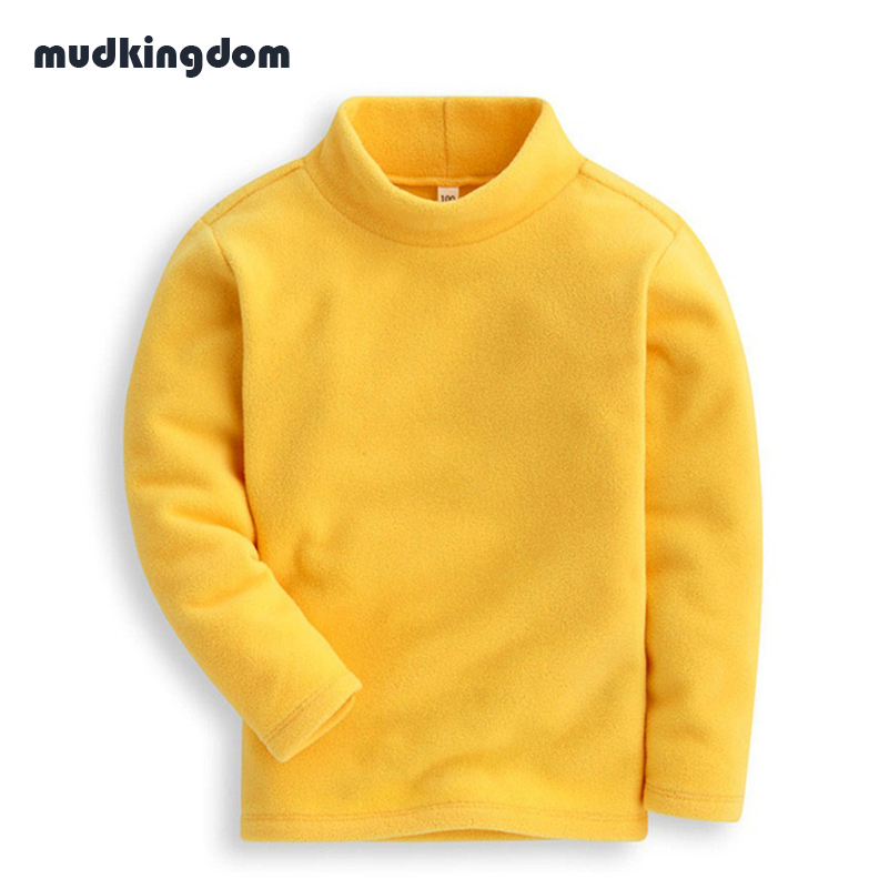 Mudkingdom Toddler Boys Girls Super Soft Turtleneck Fleece Sweatshirt Kids Baby Girl School Clothes Boys Winter Warm Sweaters