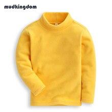 Mudkingdom Baby Boys Girls Fleece Sweatshirts Kids Baby Girl Clothes Children Winter Thermal Sweatshirts for Girls Thanksgiving