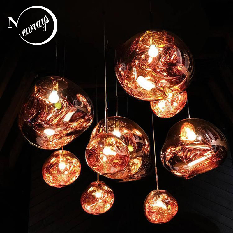 Modern creative loft Europe glass pendant light LED E27 with 3 colors for bedroom/restaurant/living room/dining room/cafe/hotel creative gold silver stainless steel maple leaf shape led pendant lights lamps for hotel living room restaurant dining room cafe