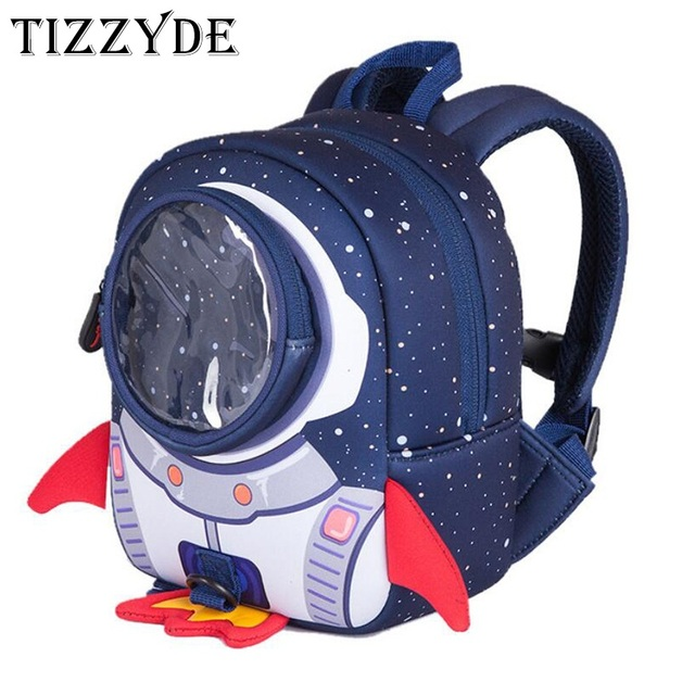 612c558014 TIZZYDE 2018 3D Rocket Kindergarten Children Cartoon School Backpack Female  High Quality 1-6 Years Old Boys And Girls DHJ01