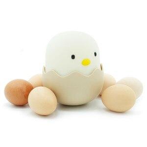 Image 4 - LED Night Light Egg Chick Shape Night lamp Soft Cartoon Baby Nursery Bedroom Rechargeable Lamp for Children Birthday Gift