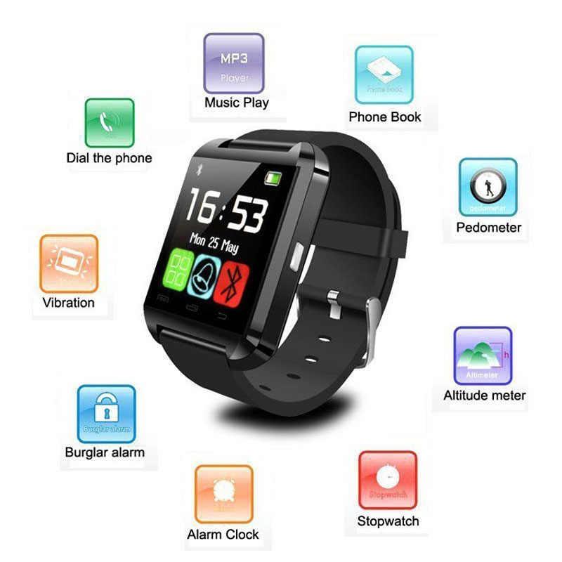 Nuevo reloj inteligente U8 para hombres, Bluetooth, mujer, reloj inteligente U80 para IPhone 6 5S, Samsung S6, Note 4, Huawei, teléfono Android teléfonos inteligentes Android