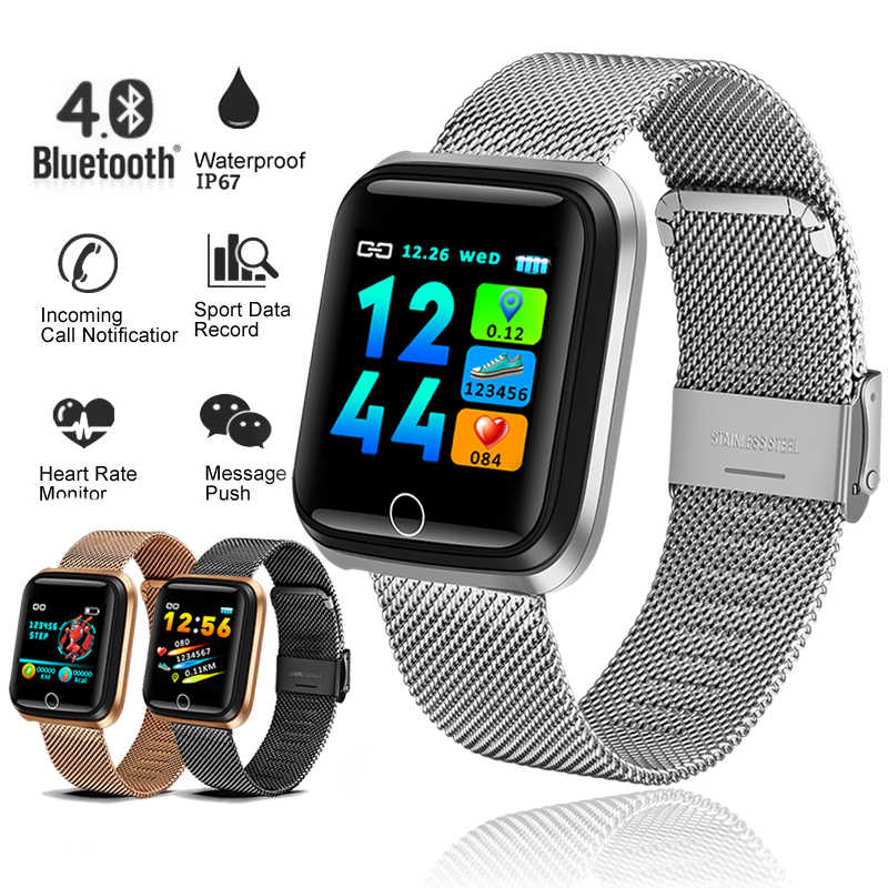 Ini 2019 Baru Smart Sport Watch Wanita Smart Watch Pria Heart Rate Tekanan Darah Monitor Kebugaran Tracker Pedometer Smart Gelang