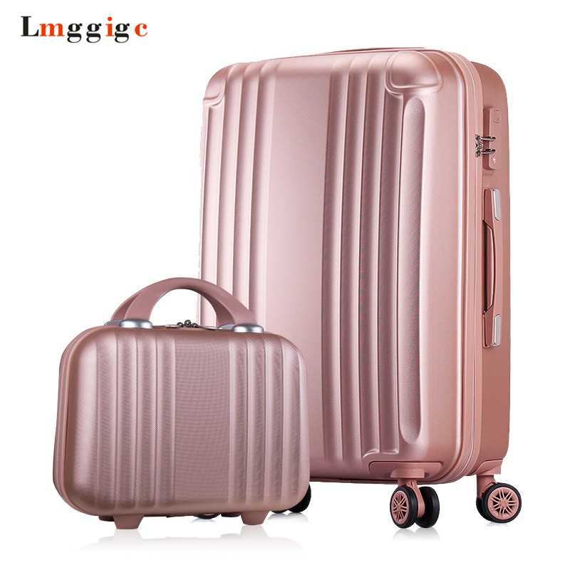 Women Luggage with handbag,Candy colors Suitcase Bag set,New ABS Travel Case,Rolling Trip Box ,Universal wheel Trolley