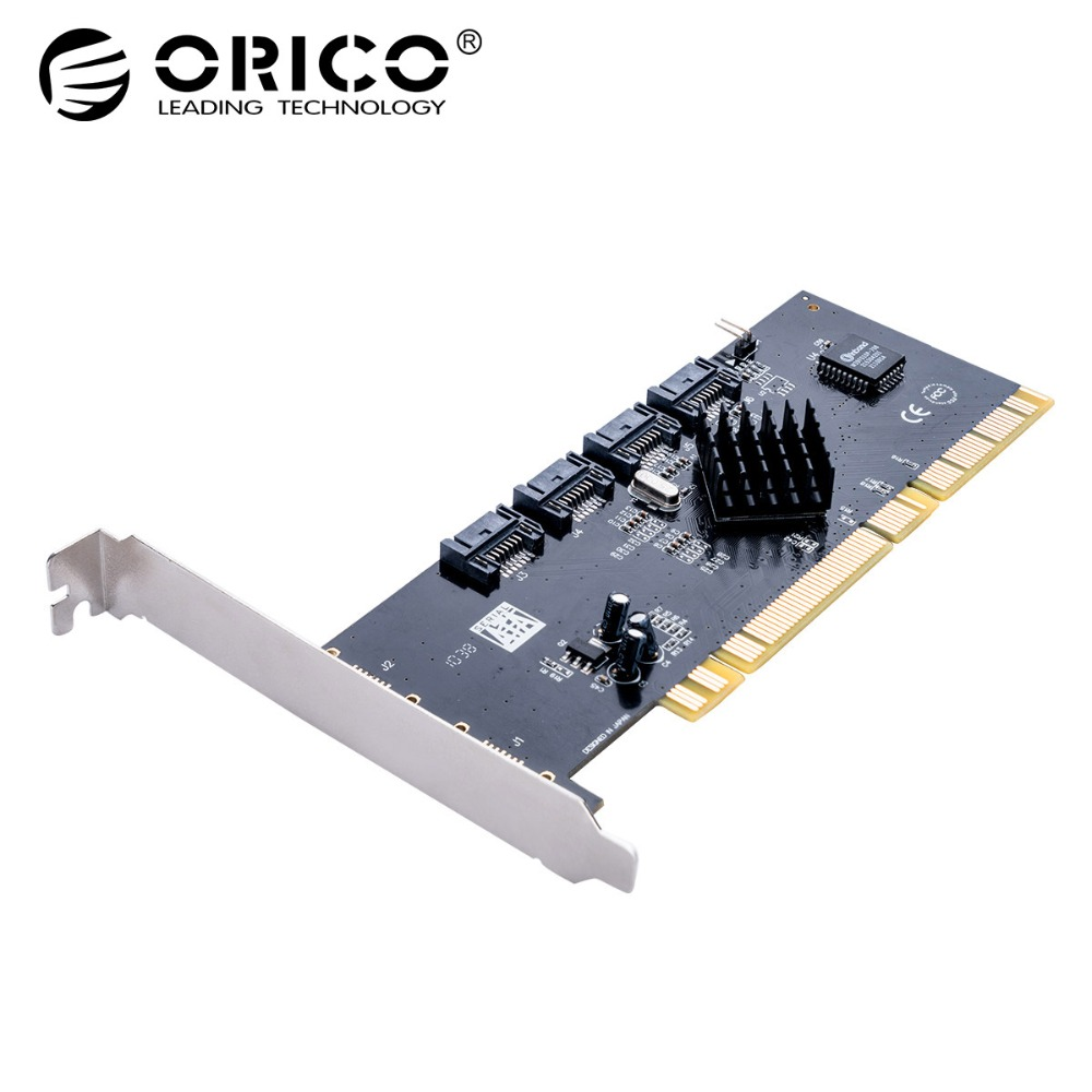 ORICO 4 Port SATA2.0 PCI-E Expansion Card 3Gbps Speed For Win 7 8 10 Vista Linux Mac OS universal msata mini ssd to 2 5 inch sata 22 pin converter adapter card for windows2000 xp 7 8 10 vista linux mac 10 os new