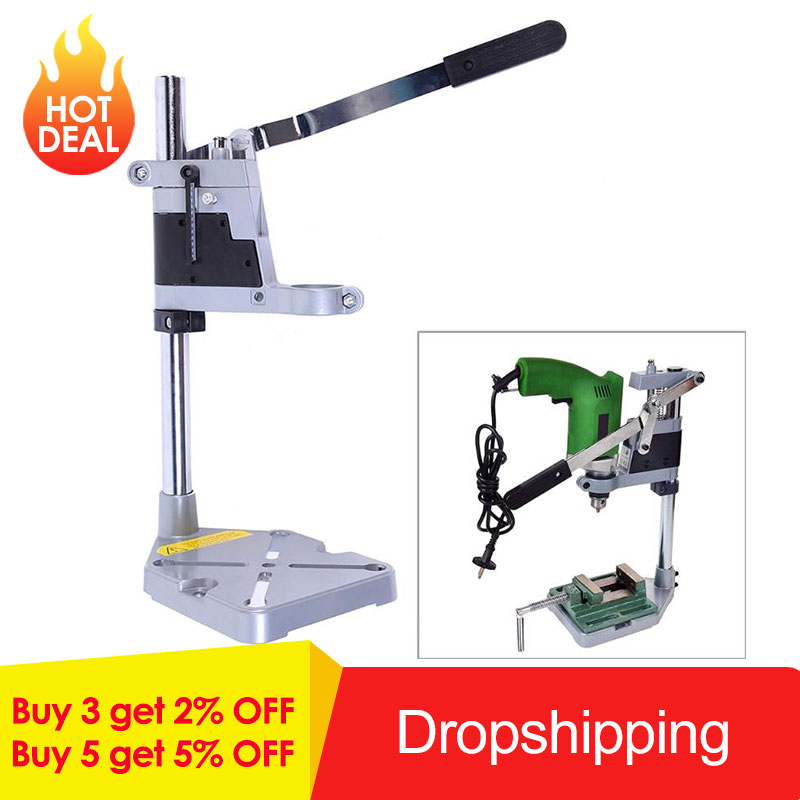Double head Electric Drill Holding Holder Bracket Dremel Grinder Rack Stand Clamp Grinder Accessories for Woodworking Tools
